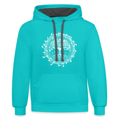 Band Seal (White) | The Settlement - Unisex Contrast Hoodie