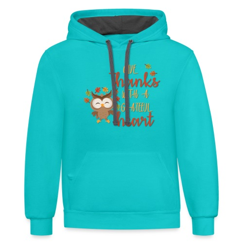 Give Thanks - Contrast Hoodie
