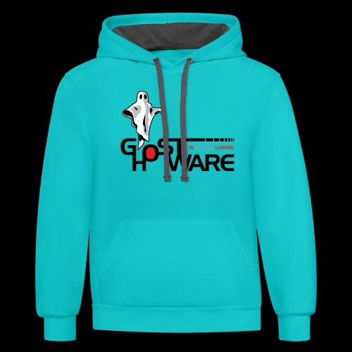 Ghostware Wide Logo - Unisex Contrast Hoodie