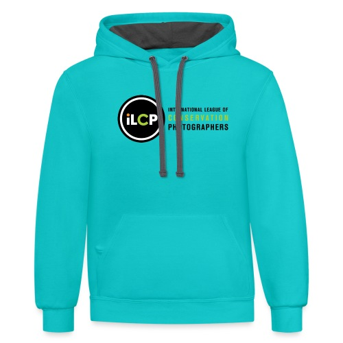 iLCP logo horizontal RGB png - Unisex Contrast Hoodie