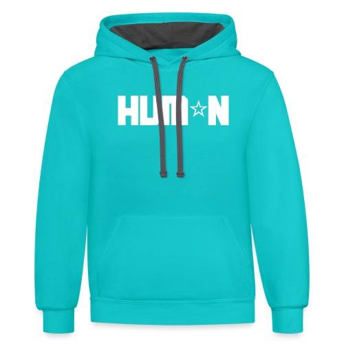 HUM*N - Unisex Contrast Hoodie