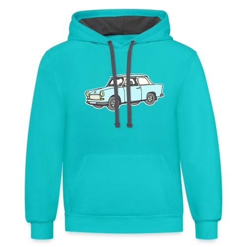 Trabant (lightblue) - Unisex Contrast Hoodie