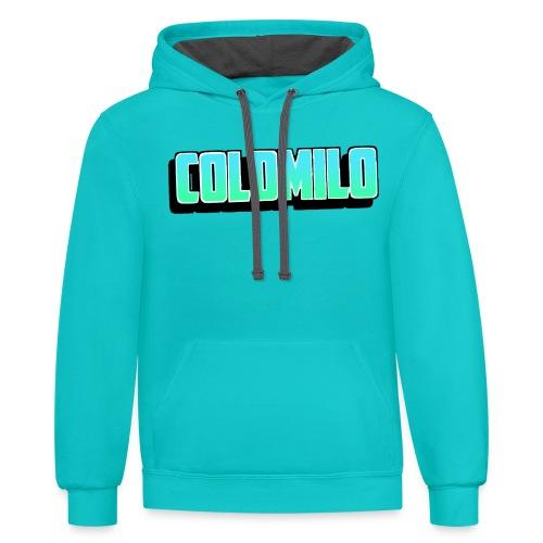 ColdMilo's Dark Mode Merch - Contrast Hoodie