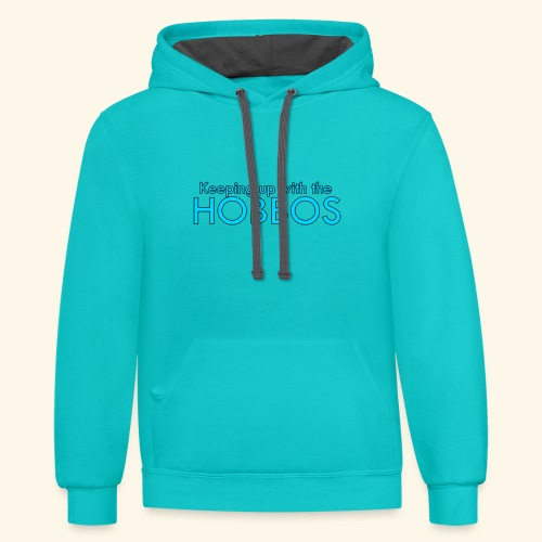 KEEPING UP WITH THE HOBBOS | OFFICIAL DESIGN - Unisex Contrast Hoodie
