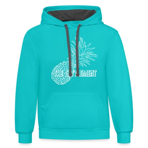 Pineapple with Band Name | The Settlement - Unisex Contrast Hoodie