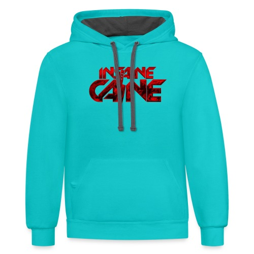Insaine Caine - The Logo - Drop 2 - Unisex Contrast Hoodie