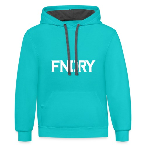FNDRY White Logo - Contrast Hoodie