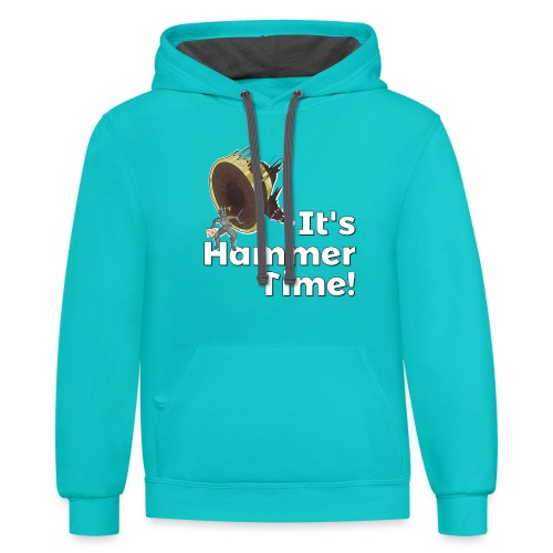 It's Hammer Time - Ban Hammer Variant - Unisex Contrast Hoodie
