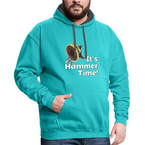 It's Hammer Time - Ban Hammer Variant - Contrast Hoodie