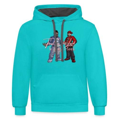 Trust in the Lord MH shirt Official - Unisex Contrast Hoodie