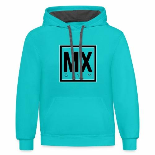 MX Gym Minimal Logo - Unisex Contrast Hoodie