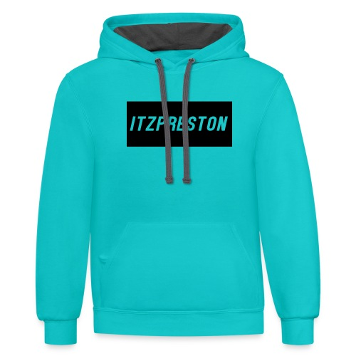 iTzPreston Full Black - Unisex Contrast Hoodie
