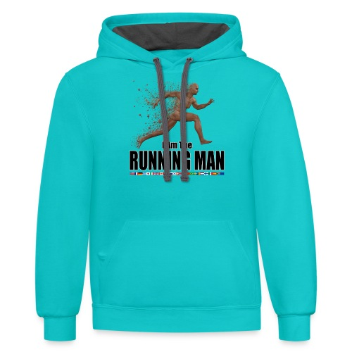 I am the Running Man - Cool Sportswear - Contrast Hoodie