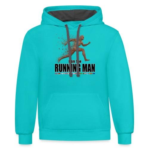 I am the Running Man - Cool Sportswear - Unisex Contrast Hoodie