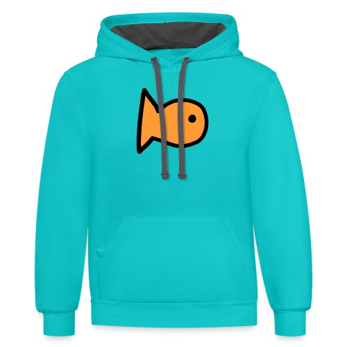 Charlytoons's fish - Contrast Hoodie