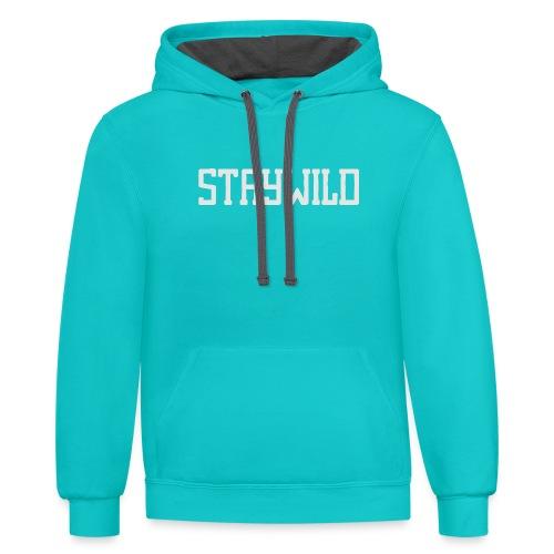 STAYWILD - Unisex Contrast Hoodie