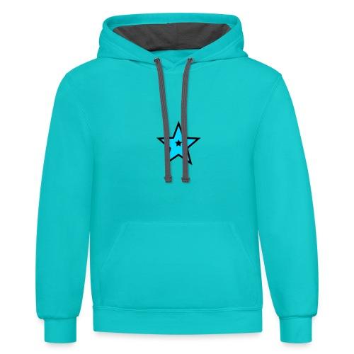 New Star Logo Merchandise - Contrast Hoodie