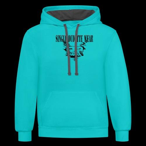 SDW Skull Big Dudette - Contrast Hoodie