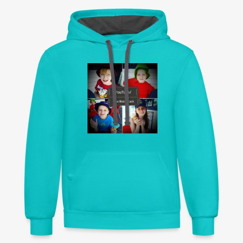 the brat attack 5 - Contrast Hoodie