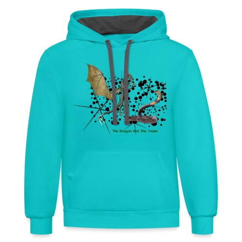 THE DRAGON AND THE SNAKE - Contrast Hoodie