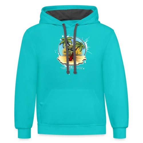 let's have a safe surf home - Unisex Contrast Hoodie