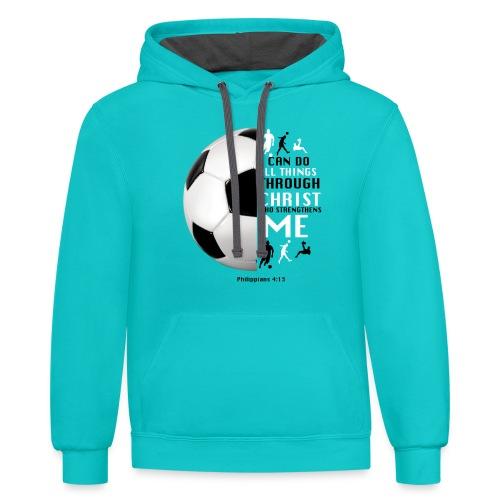 soccer - Contrast Hoodie