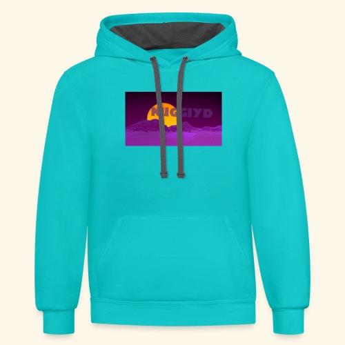 purple boy shirt - Unisex Contrast Hoodie