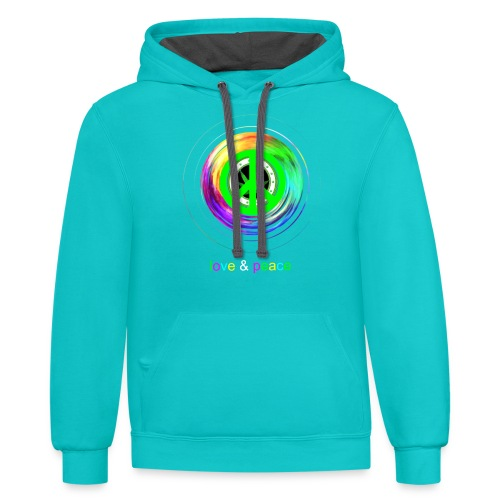 Love And Peace - Contrast Hoodie