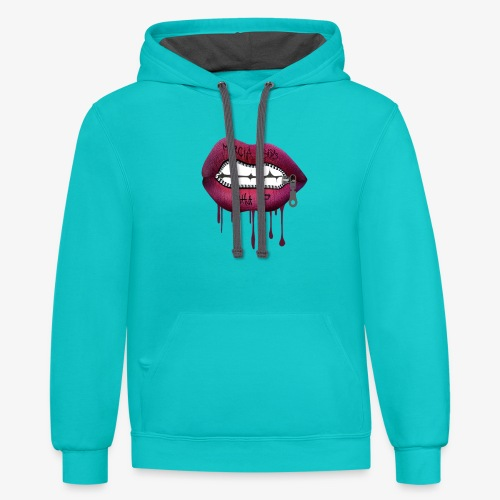 women mouth - Unisex Contrast Hoodie