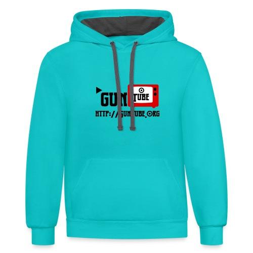 GunTube Shirt with URL - Contrast Hoodie