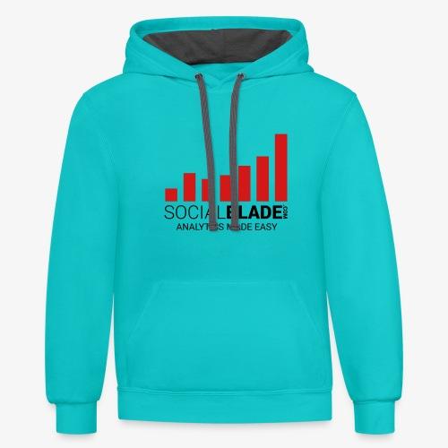 Social blade (R6) - Unisex Contrast Hoodie