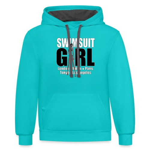 The Fashionable Woman - Swimsuit Girl - Contrast Hoodie