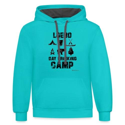 LOEBD Day Drinking Camp - Unisex Contrast Hoodie