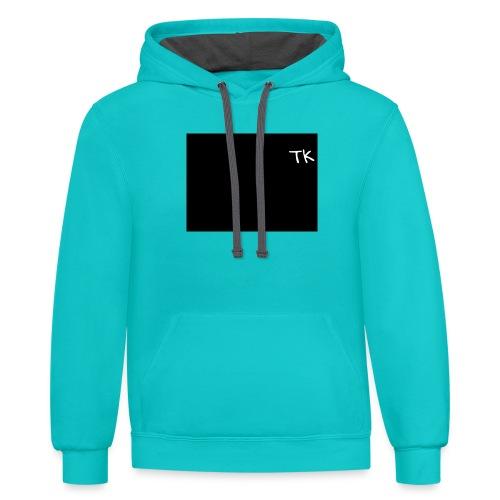 Thom Kenobi hoodies TK initials gloria hallelujah - Contrast Hoodie