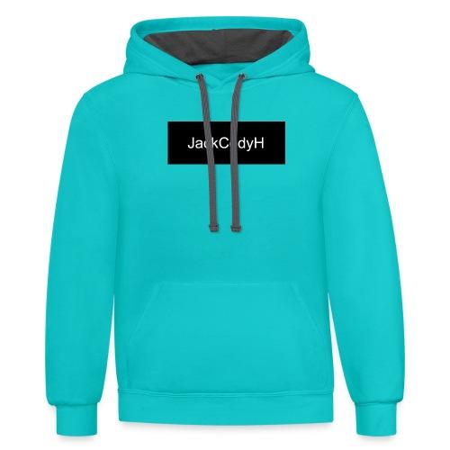 JackCodyH black design - Unisex Contrast Hoodie