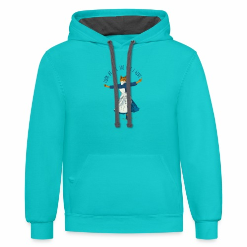 Look At All The Fox I Give - Unisex Contrast Hoodie