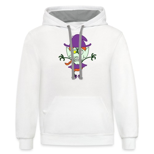Scary Halloween Witch - Contrast Hoodie