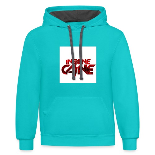 Collection 1: INSAINE CAINE Logo - Unisex Contrast Hoodie