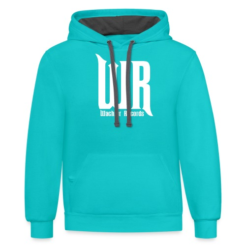 Wachler Records Light Logo - Contrast Hoodie