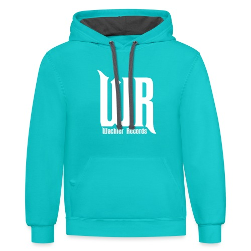 Wachler Records Light Logo - Unisex Contrast Hoodie