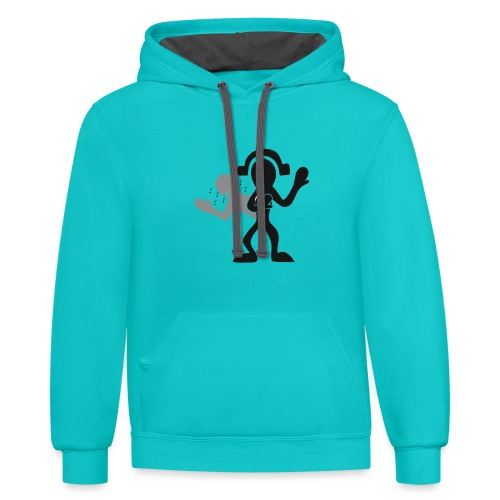 music for soul - Unisex Contrast Hoodie