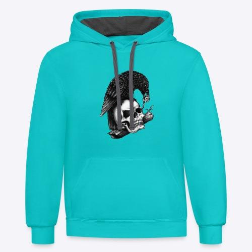 Skull Crow - Contrast Hoodie