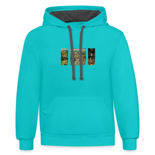 Garden Of Earthly Delights - Contrast Hoodie