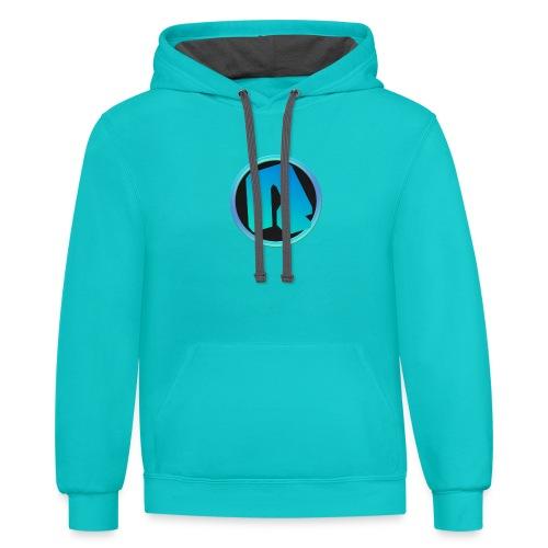Channel Logo - qppqrently Main Merch - Contrast Hoodie