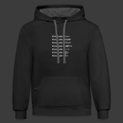 White Include List - Contrast Hoodie