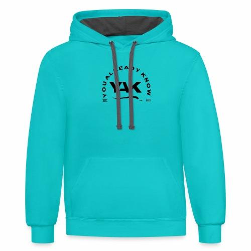 YAK Logos 10 - Contrast Hoodie