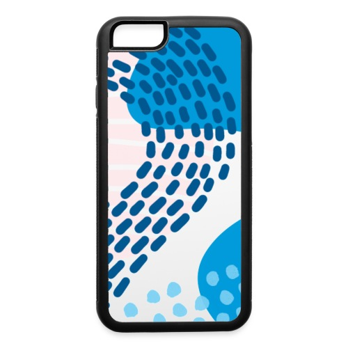 Pink & Blue Abstract - iPhone 6/6s Rubber Case