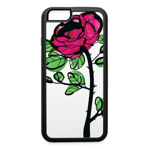 watercolor rose - iPhone 6/6s Rubber Case