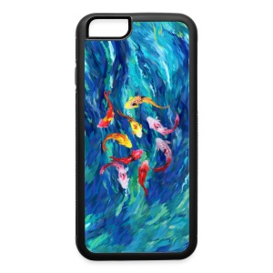 koi fish rainbow abstract paintings case - iPhone 6/6s Rubber Case