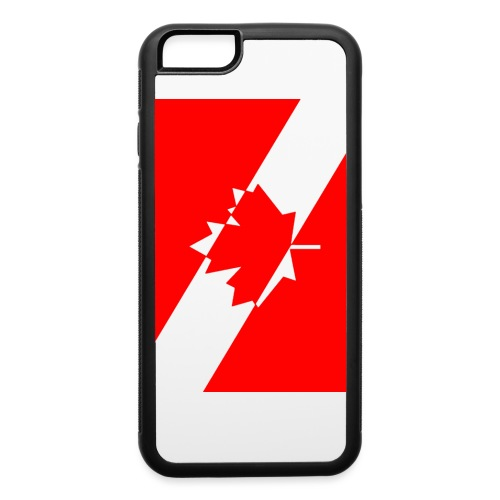 Canadian Diver Flag in Red & White - iPhone 6/6s Rubber Case